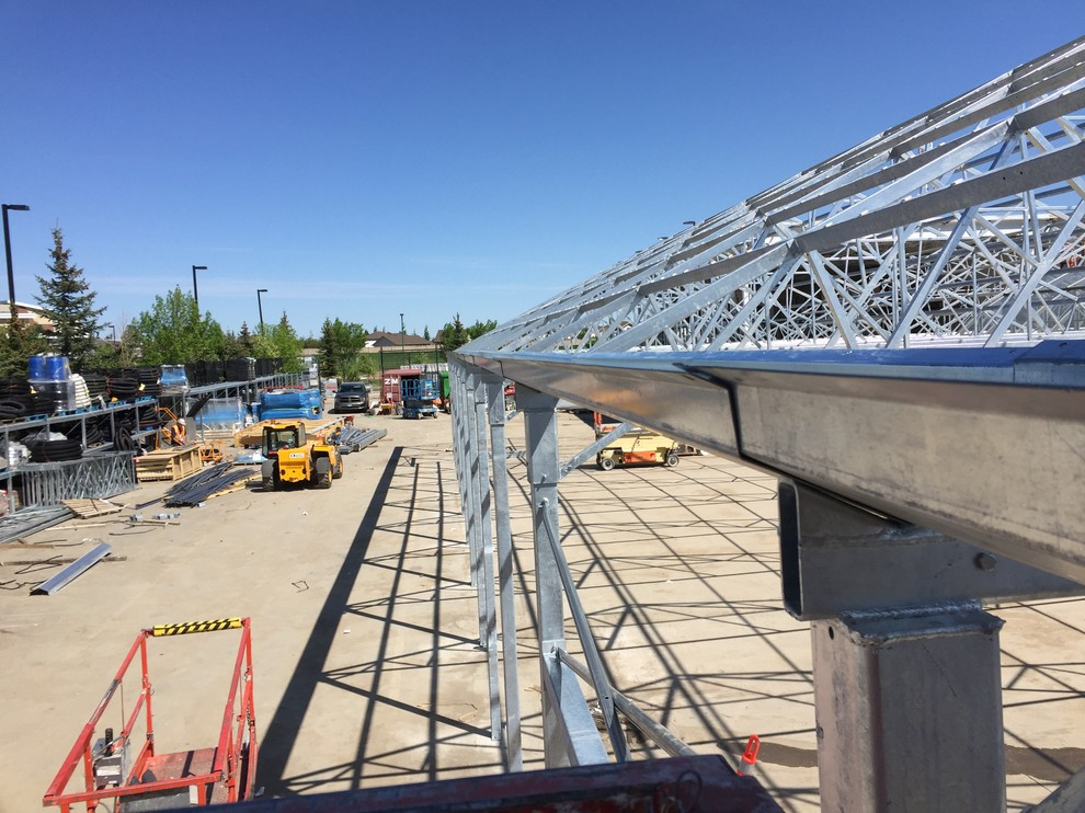 steel structures at job site