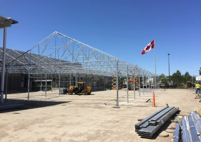 steel structures with canadian flag